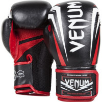 Боксерские перчатки venum absolute boxing gloves nappa leather - black/red