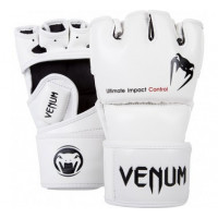 Перчатки mma venum impact mma gloves - ice - skintex leather