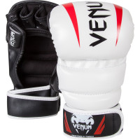 Перчатки ММА Venum Elite MMA Gloves - White
