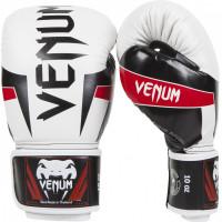 Перчатки боксерские venum elite boxing gloves - white