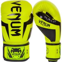 Перчатки боксерские venum elite boxing gloves - neo yellow