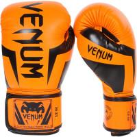 Перчатки боксерские venum elite boxing gloves - neo orange