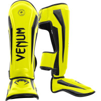 Защита ног Venum Elite Shin Guard Neo Yellow