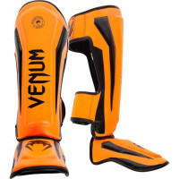 Защита ног venum elite shin guard neo orange