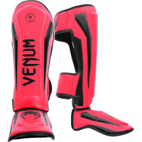 Защита ног venum elite shin guard neo pink