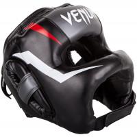 Бамперный боксерский шлем Venum Elite Iron Headgear Black/Red/White