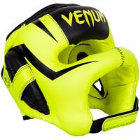 Бамперный боксерский шлем Venum Elite Iron Headgear Fluo Yellow