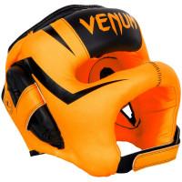Бамперный боксерский шлем venum elite iron headgear fluo orange