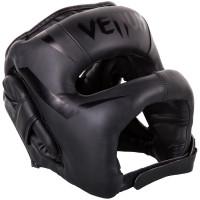 Бамперный боксерский шлем Venum Elite Iron Headgear Black/Black