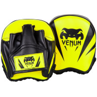 Лапы venum elite mini punch mitts fluo yellow