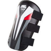 Тренерская защита ног venum elite leg protector - pair - black/ice/red