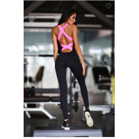 Комбинезон designed for fitness black n rose