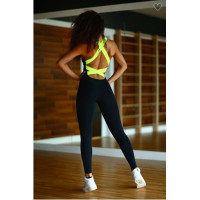 Комбинезон designed for fitness black n lemon