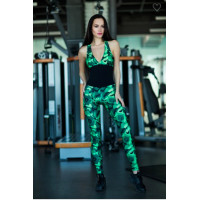 Комбинезон designed for fitness geometric green