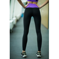 Лосины designed for fitness lavender high waist