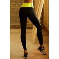 Лосины designed for fitness lemon high waist