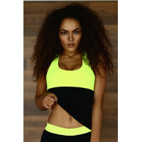 Спортивный топ designed for fitness  basic lemon long