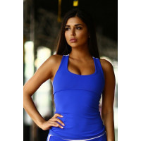 Спортивный топ designed for fitness basic blue long