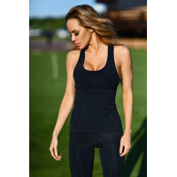 Спортивный топ designed for fitness black net long