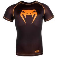 Рашгард venum contender 3.0 short sleeves - black/orange