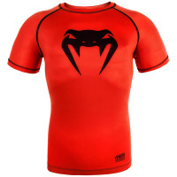 Рашгард venum contender 3.0 short sleeves - red/black