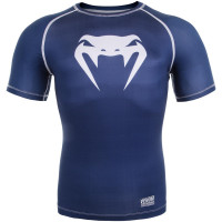 Рашгард venum contender 3.0 short sleeves - navy blue/white