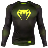 Рашгард venum contender 3.0 long sleeves - black/yellow