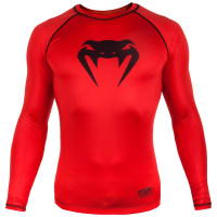 Рашгард venum contender 3.0 long sleeves - red/black