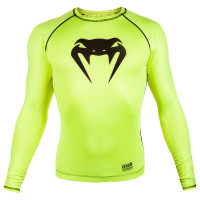 Рашгард venum contender 3.0 long sleeves - yellow/black