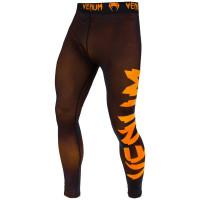 Компрессионные штаны venum giant spats - black/orange