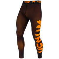 Спортивные штаны venum giant spats - black/orange