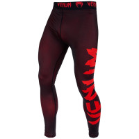 Компрессионные штаны venum giant spats - black/red
