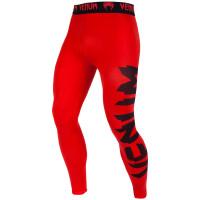 Компрессионные штаны venum giant spats - red/black