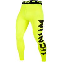 Компрессионные штаны venum giant spats - yellow/black