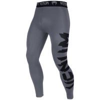 Компрессионные штаны venum giant spats - grey/black
