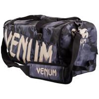 Сумка venum sparring sport bag - dark camo/neo yellow