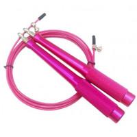 Скакалка скоростная розовая