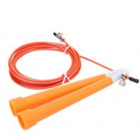 Скакалка скоростная пластиковая ручка оранжевая