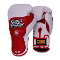 Боксерские перчатки danger ultimate fighter white/red