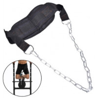 Тренажер nylon dip belt back support belt for weight lifting power with metal chain