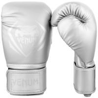Боксерские перчатки venum contender silver/silver