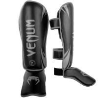 Защита ног venum challenger standup shinguards neo black grey