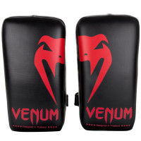 Тайпэды venum giant kick pads - black/red
