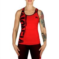 Спортивный женский топ venum power tank top - black/red