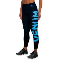 Компрессионные штаны venum women giant black/cyan