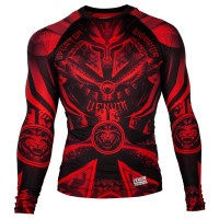 Рашгард venum gladiator 3.0 rashguard long sleeve black/red