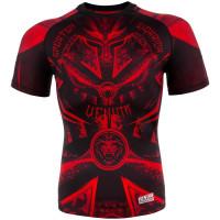 Рашгард venum gladiator 3.0 rashguard short sleeve black/red