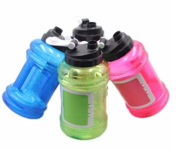 Бутылка спортивная 2,2 л желтая
