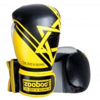 Боксерские перчатки zooboo yellow bg09