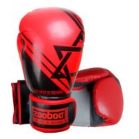 Боксерские перчатки zooboo red bg09